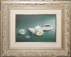 032254 A SIDONI OIL ON CANVAS STILL LIFE