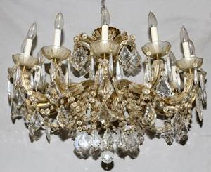 TWELVELIGHT CRYSTAL CHANDELIERS PAIR