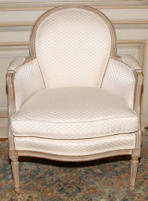 LOUIS XVI STYLE DECORATED BERGERE