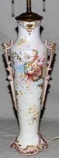 041459 ROYAL BONN HANDPAINTED VASE AS A LAMP