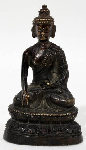 040316 THAI BRONZE SEATED BUDDHA 3
