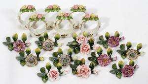 040306 DRESDEN PLACE CARD HOLDERS  NAPKIN RINGS
