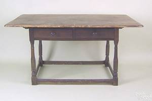 Pennsylvania pine and poplar tavern table mid 18th c
