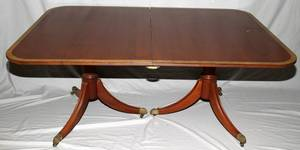 031446 FEDERAL STYLE MAHOGANY DINING TABLE