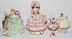 022423 GERMAN PORCELAIN FIGURES FOUR H 5  8 12