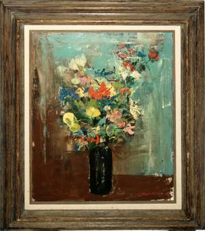 050403 POLLY JENNINGS OILCANVAS 20 X 16 FLORAL