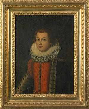 Italian Old Masters oil on canvas portrait mid 17th c