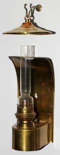 030468 KOSMOS BRENNER BRASS  GLASS SCONCE H 11