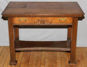 AMERICAN OAK LIBRARY TABLE C 1900
