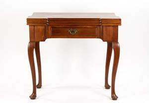 18th C George II Triple Top Card or Games Table