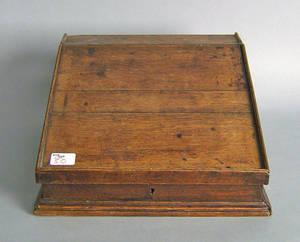 English oak table top desk