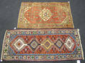 Two oriental throw rugs