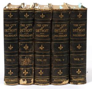 THE CITY OF DETROIT MICHIGAN 17021922 5 VOLUMES