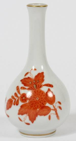 HEREND CHINESE BOUQUETRUST PORCELAIN BUD VASE