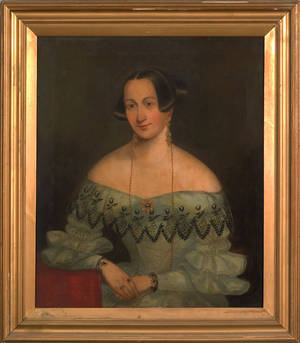 English oil on canvas portrait 19th c