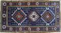 Kazak throw rug ca 1910