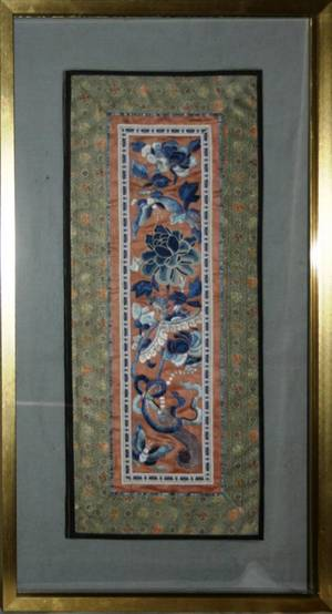 041585 CHINESE SILK EMBROIDERY EARLY 20TH C