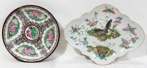 040501 JAPANESE  CHINESE PORCELAIN BOWL  DISH TWO