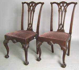 Set of 6 Chippendale style mahogany dining chairs Provenance From the estate of Leonore and Henry L Haas