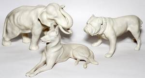 LENOX BISQUE ANIMAL FIGURES THREE
