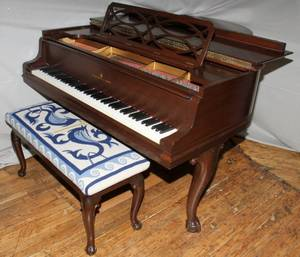 050011 STEINWAY  SONS MAHOGANY GRAND PIANO MODEL M