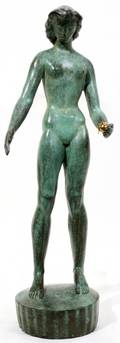 030004 MARSHALL FREDERICKS BRONZE SCULPTURE H 19
