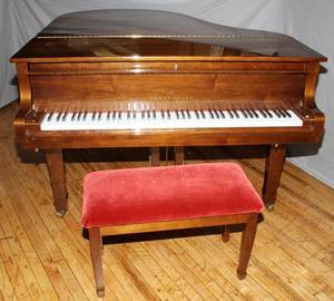 YOUNG CHANG MAHOGANY PIANO MODEL G175 W BENCH