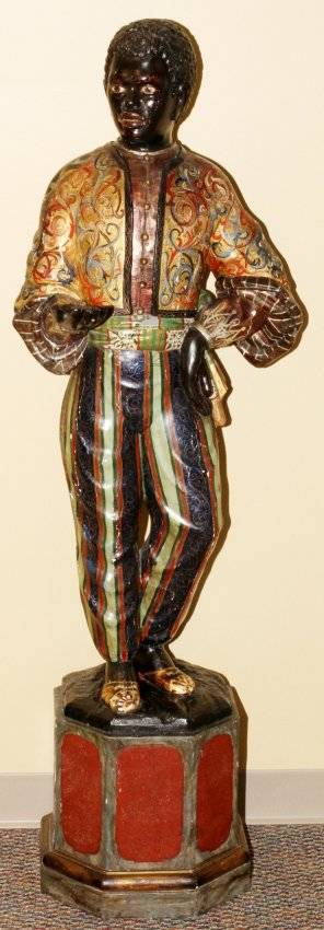 VENETIAN CARVED WOOD  POLYCHROME BLACKAMOOR