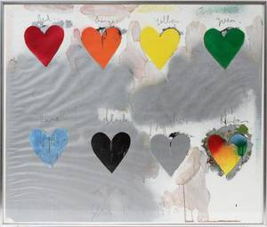 120091 JIM DINE SCREEN PRINT IN COLORS 25 X 30