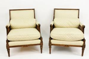 Pair of Regency Style Caned Armchairs