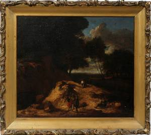 092110 DUTCH OIL PAINTING ON CANVAS 18TH C