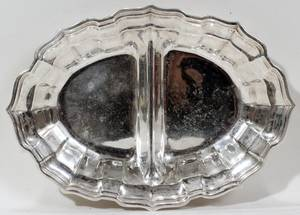 091181 FRANK SMITH SILVER CO CHIPPENDALE STERLING DISH