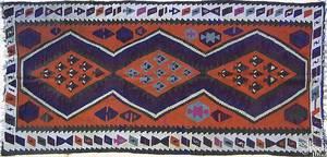 Semi antique Kilim throw rug
