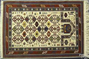 Contemporary Kazak throw rug
