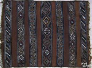 Kilim throw rug ca 1930