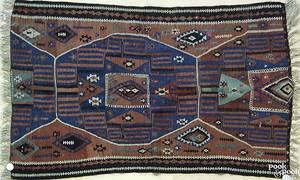Kilim throw rug ca 1920
