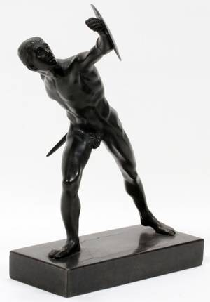092156 BRONZE FIGURAL SCULPTURE AFTER THE CLASSICAL