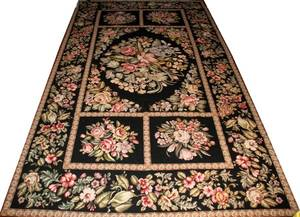 091255 FRENCH STYLE WOOL HAND WOVEN RUG 103 X 62
