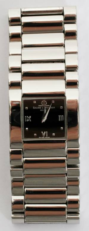 091252 BAUME  MERCIER STAINLESS STEEL WRISTWATCH