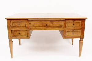 Italian Circassian Walnut Desk