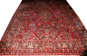 072214 SAROUK WOOL PERSIAN CARPET C 19301950