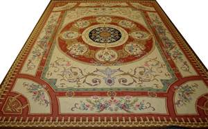 102176 AUBUSSON STYLE HANDWOVEN RUG 11 0 X 8 9