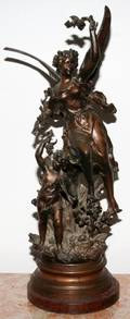 091279 AFTER ERNEST RANCOULET FRENCH SPELTER SCULPTURE