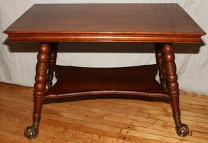 112246 VICTORIAN OAK SMALL LIBRARY TABLE C 1880