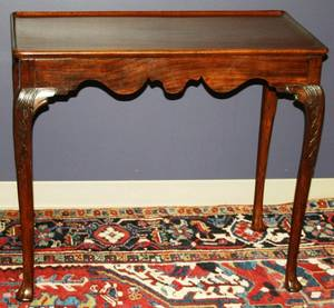 110227 18THC MAHOGANY TEA TABLE H 29 W 34 D 19