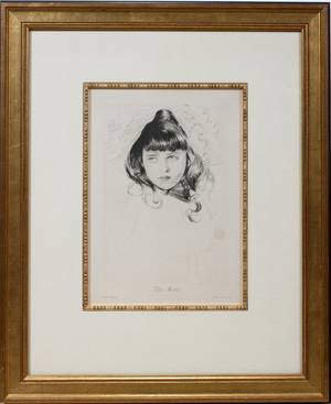 102210 AFTER ELLEN HELLEU ETCHING PRINTED BY LEMERCIE