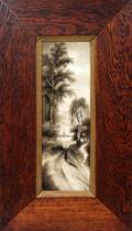 102188 H C HAHN PAINTING ON PORCELAIN 12 X 4