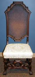 090240 EMPIRE STYLE CANE BACK SIDE CHAIR H 51 W 21