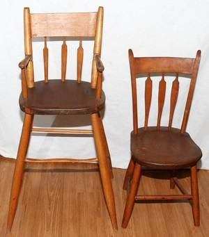 071341 NEW ENGLAND MAPLE ARROWBACK CHILDS CHAIR C