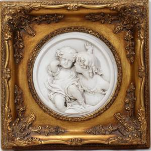 062266 EUROPEAN BISQUE RELIEF PLAQUE DIA 7